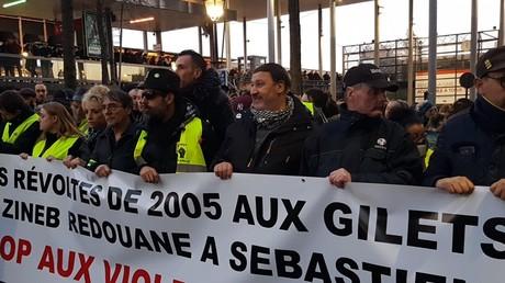 La marche de soutien aux victimes des violences policières, à Argenteuil, le 13 février 2019.
