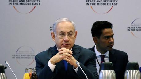 Le Premier ministre israélien Benjamin Netanyahou à la conférence sur le Moyen Orient de Varsovie, en Pologne .