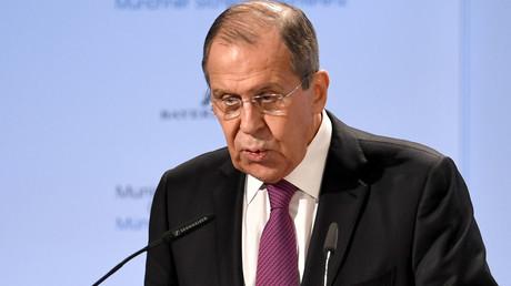 Le ministre russe des Affaires étrangères, Sergueï Lavrov, s'exprime lors de la 55e conférence sur la sécurité à Munich, le 16 février 2019.