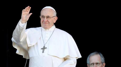 Le pape François alors qu'il s'apprête à délivrer sa bénédiction Urbi et Orbi le 25 décembre 2018 au Vatican (image d'illustration).