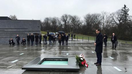 Le Premier ministre polonais, Mateusz Morawiecki, en visite au musée de la famille Ulma, une famille polonaise qui a sauvé des juifs durant la seconde guerre mondiale, à Markowa en Pologne (image d'illustration).