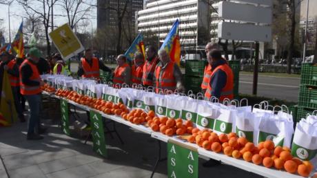 Espagne: des «Gilets oranges» protestent contre les importations d'oranges dans l'UE