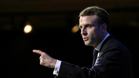 Emmanuel Macron lors de son discours au 34e dîner du CRIF le 20 février.