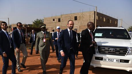 Le Premier ministre Edouard Philippe en visite à Bamako au Mali, le 23 février.