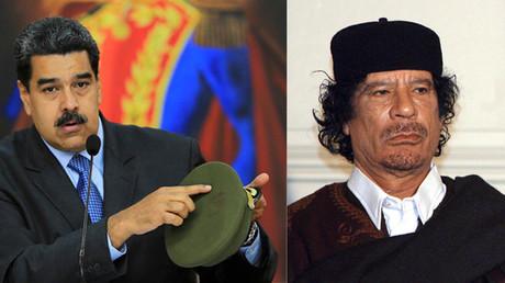 Photomontage d'illustration (Nicolas Maduro à gauche, Mouammar Kadhafi).