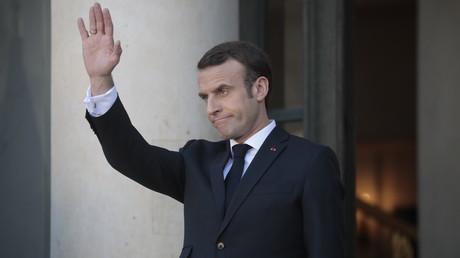 Emmanuel Macron sur le perron de l'Elysée (image d'illustration).