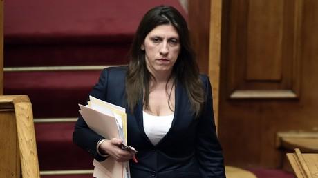 Zoi Konstantopoulou, ancienne présidente du Parlement grec et avocate d'Alexandre Vinnik estime que la demande d'extradition française est scandaleuse (photo d'illustration prise en juillet 2015).