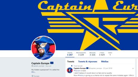 Capture d'écran de la page Twitter de la page Twitter de «Captain Europe».