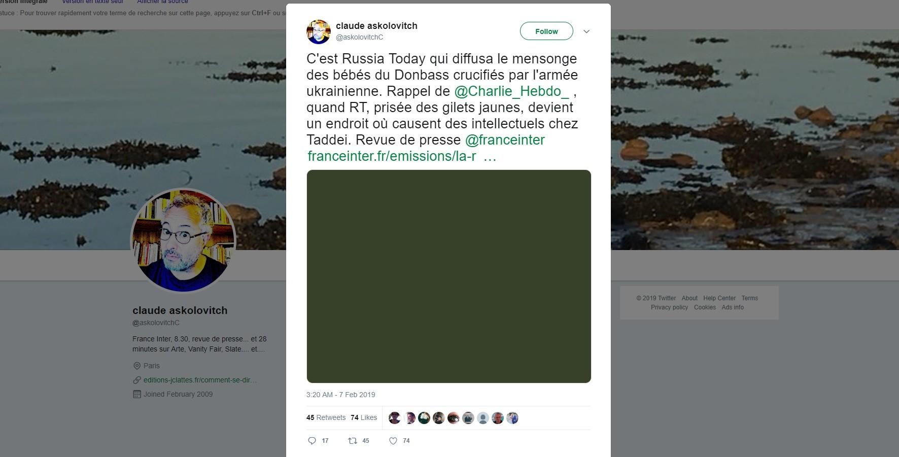 RT France «seul média audiovisuel honorable» : Askolovitch a-t-il déformé les propos de Lordon ?