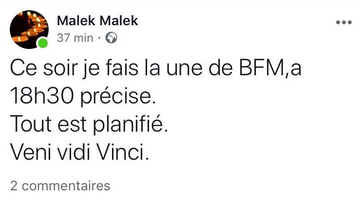 «Ce soir je fais la une de BFM» : le frère de Chérif Chekatt arrêté pour un message douteux