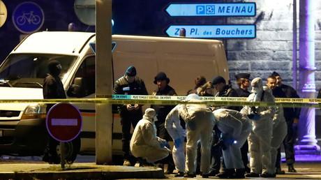 Photo de Strasbourg après l'attaque, le 13 décembre 2018.