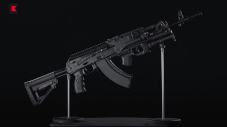 Le fusil d'assaut AK-203.