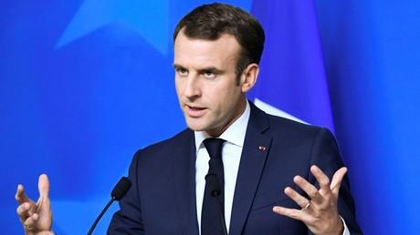 Emmanuel Macron lors d'une conférence à l'issue un sommet européen à Bruxelles, le 14 décembre 2018 (image d'illustration).