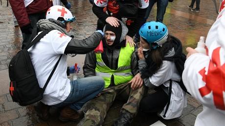 Gilet jaune blessé lors d'une manifestation à Toulouse.
