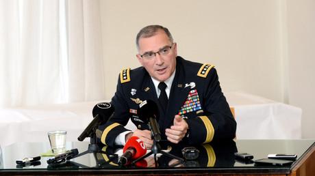 Le général Scaparrotti à Helsinki en août 2017 (image d'illustration).