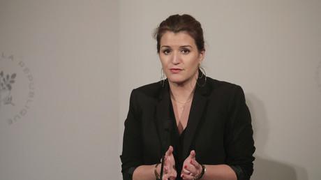 La secrétaire d'Etat Marlène Schiappa après le conseil des ministres du 6 mars 2019.