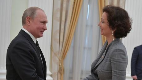 Vladimir Poutine reçoit Audrey Azoulay, directrice de générale de l'UNESCO (VIDEO)