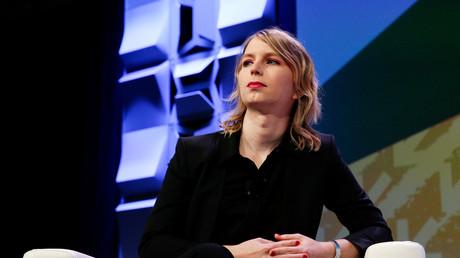 Chelsea Manning prononce un discours au festival South by Southwest à Austin, Texas, États-Unis, le 13 mars 2018.