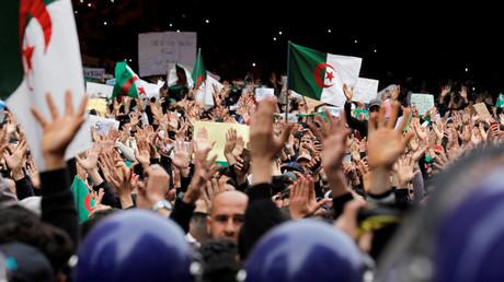 Manifestation contre le pouvoir algérien et le président Bouteflika, le 8 mars 2019 à Alger.