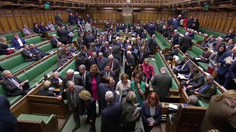 Les députés britanniques le 13 mars 2019.