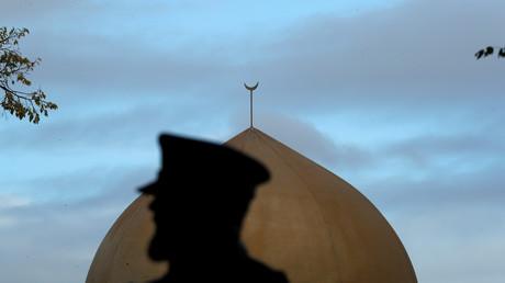 Un officier de police devant la mosquée de Masjid Al Noor à Christchurch (image d'illustration).