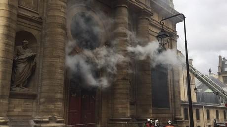 L'incendie de l'église Saint-Sulpice à Paris serait d'origine criminelle