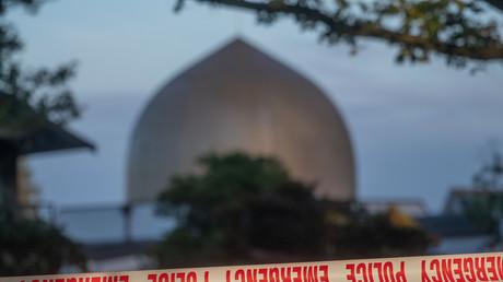 La police met en place un cordon de sécurité autour de la mosquée à Christchurch en Nouvelle-Zélande, le 17 mars (image d'illustration).