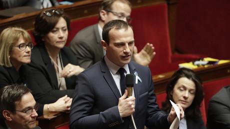 Fabien Di Filippo lors d'une séance des questions au gouvernement à l'Assemblée nationale (image d'illustration).