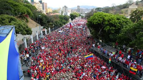Des dizaines de milliers de Vénézuéliens rassemblés pour soutenir le gouvernement de Nicolas Maduro, à l'occasion de la «la marche contre l'impérialisme», le 23 mars 2019.