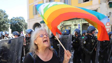 Geneviève Legay, militante Attac, blessée à Nice le 23 mars (image d'illustration).
