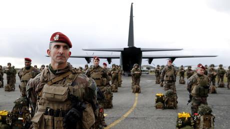 Parachutistes de la 11e brigade le 17 janvier 2019 à Toulouse.