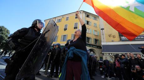 Geneviève Legay, militante Attac, blessée à Nice le 23 mars.