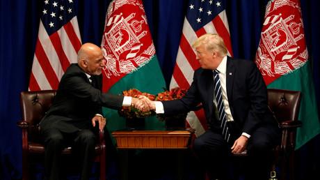 Le président afghan, Ashraf Ghani, en compagnie de son homologue américain, Donald Trump, le 21 septembre 2017 à New York (image d'illustration).