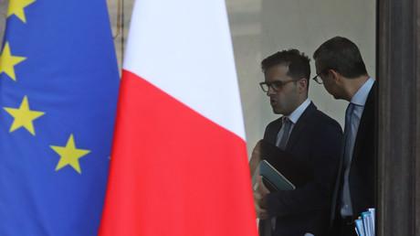 Le conseiller spécial d'Emmanuel Macron, Ismaël Emelien, est au coeur de l'affaire Benalla. Ici, au Palais de l'Elysée le 17 janvier 2018 (image d'illustration).