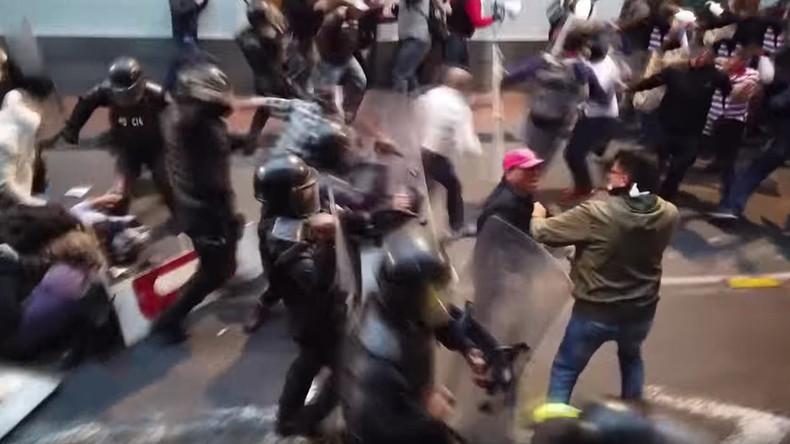 En Equateur, de violents heurts en marge des manifestations contre l'arrestation de Julian Assange