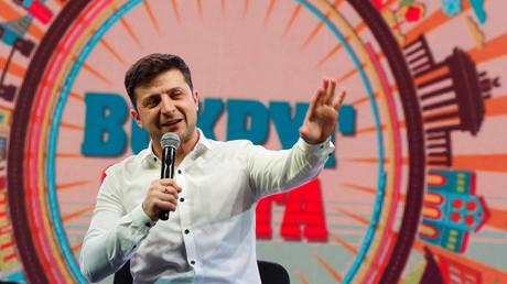 Volodymyr Zelensky, le 29 mars 2019.