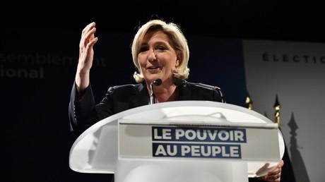 Marine Le Pen en campagne le 22 mars 2019.
