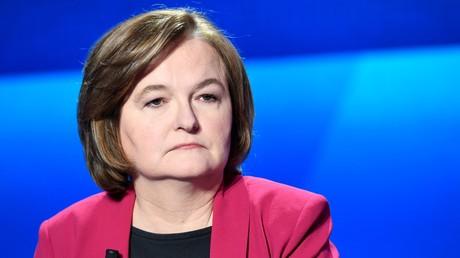 Nathalie Loiseau lors du débat télévisé du 4 avril sur France 2.