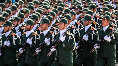 Le Corps des gardiens de la révolution iranien lors d'un défilé militaire le 22 septembre 2018 à Téhéran (image d'illustration).