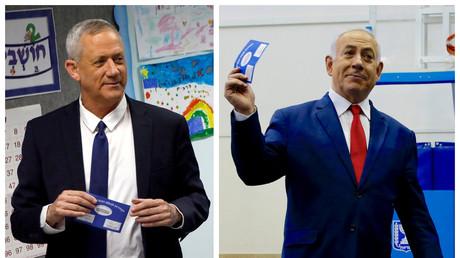 Le centriste Benny Gantz à gauche, le Premier ministre Benjamin Netanyahou à droite (image d'illustration).