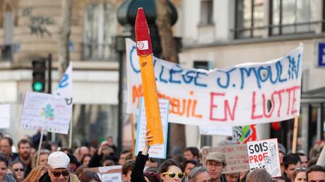 Manifestation des enseignants le 19 mars 2019 à Paris.