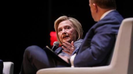 L'ancienne secrétaire d'État Hillary Clinton lors d'un entretien au théâtre Beacon à New York, le 11 avril 2019 (image d'illustration).