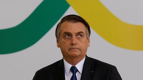 Le président brésilien Jair Bolsonaro à Brasilia, au Brésil, le 11 avril 2019.
