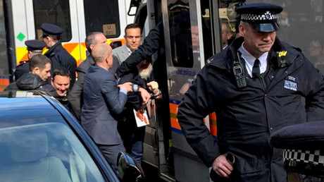 Arrestation de Julian Assange le 11 avril à Londres (image d'illustration).