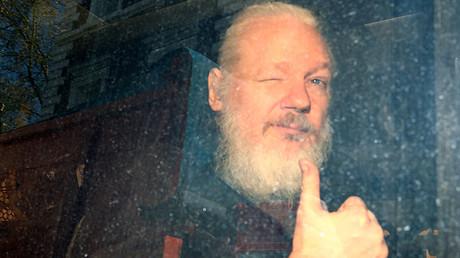 Julian Assange arrêté par les autorités britanniques, le 11 avril 2019 (image d'illustration).