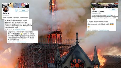 La cathédrale de Notre-Dame-de-Paris en flammes, le 15 avril.