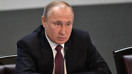 Vladimir Poutine rencontre des chefs d'entreprise français à Moscou