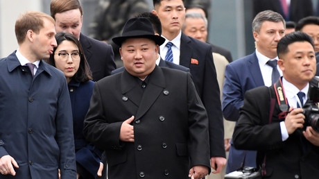 Premières images de l'arrivée de Kim Jong-un à Vladivostok, où il doit rencontrer Poutine (VIDEO)