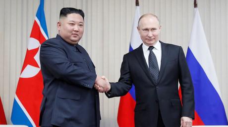 Vladimir Poutine et Kim Jong-un le 25 avril 2019.
