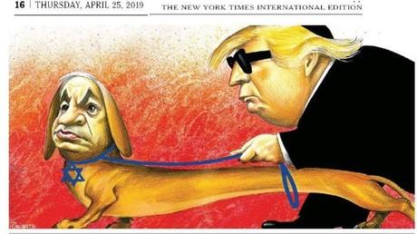 La caricature du new York Times ayant fait scandale aux Etats-Unis.